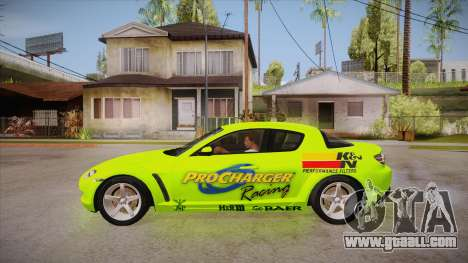 Mazda RX8 Tunnable for GTA San Andreas left view