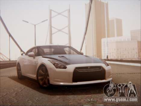 Nissan GT-R R35 Spec V 2010 for GTA San Andreas left view