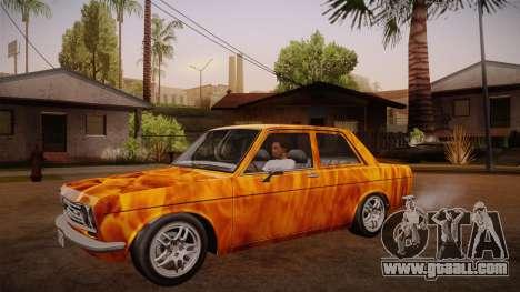 Datsun 510 RB26DETT Black Revel for GTA San Andreas side view