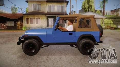 Jeep Wrangler V10 TT Black Revel for GTA San Andreas left view