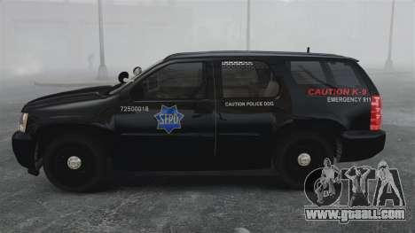 Chevrolet Tahoe 2010 PPV SFPD v1.4 [ELS] for GTA 4 left view