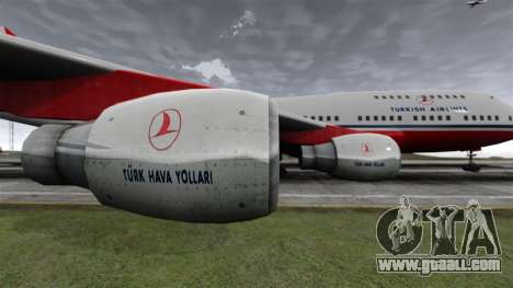 The Turkish Airlines aircraft for GTA 4 back view