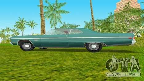 Plymouth Fury III 1969 Coupe for GTA Vice City back view