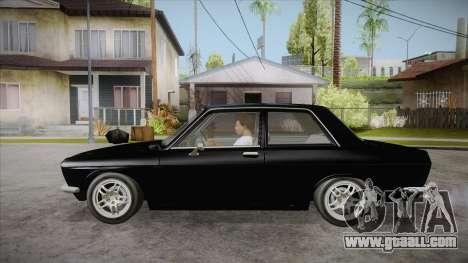 Datsun 510 RB26DETT Black Revel for GTA San Andreas left view