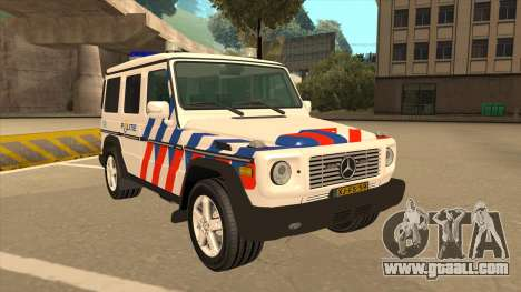 European Emergency Mercedes-Benz G 2008 for GTA San Andreas left view