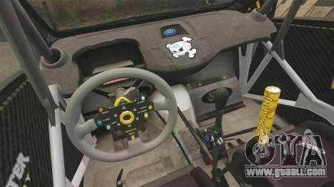 Ford Fiesta Gymkhana 6 Ken Block [Hoonigan] 2013 for GTA 4 side view