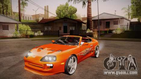 Toyota Supra TwinTurbo FNF 1997 for GTA San Andreas inner view