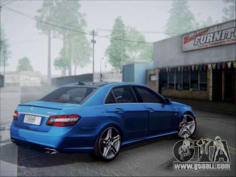 Mercedes-Benz E63 AMG 2010 for GTA San Andreas back left view