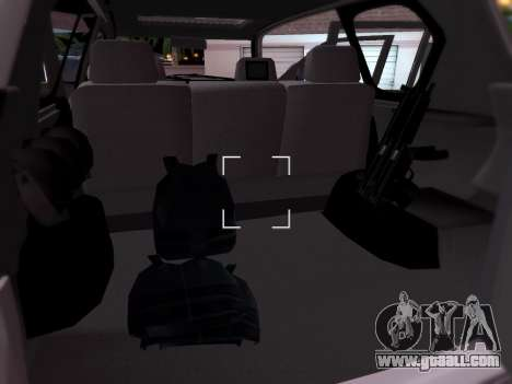 Toyota Land Cruiser POLICE for GTA San Andreas inner view