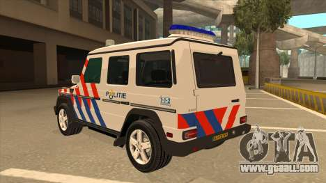 European Emergency Mercedes-Benz G 2008 for GTA San Andreas back view