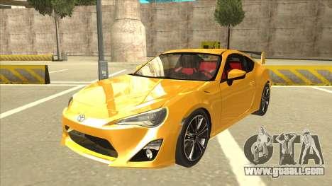 TOYOTA GT86 2JZ-GTE Black Revel for GTA San Andreas