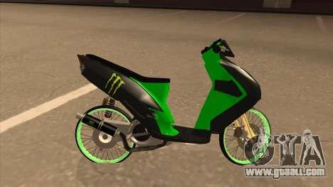 Yamaha Mio Soul 2 Monster Energy for GTA San Andreas left view