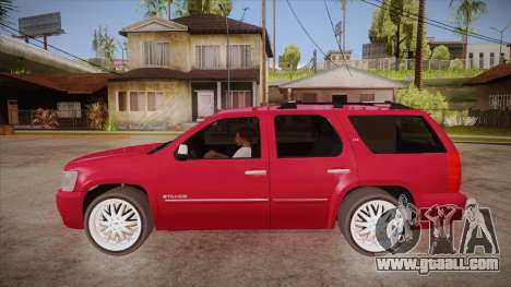 Chevrolet Tahoe LTZ 2013 Custom for GTA San Andreas left view