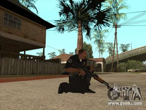AKMS with bayonet-knife for GTA San Andreas second screenshot