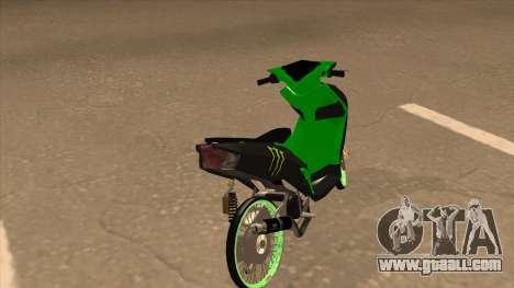 Yamaha Mio Soul 2 Monster Energy for GTA San Andreas back left view