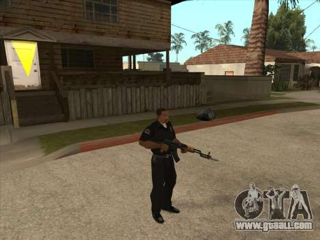 AKMS with bayonet-knife for GTA San Andreas