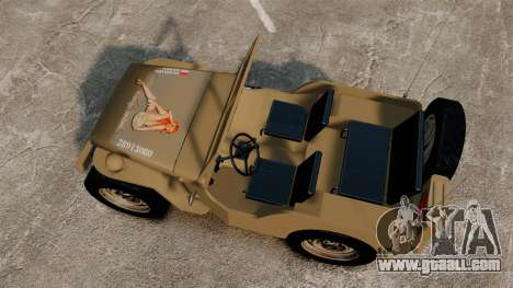 Willys MB for GTA 4 right view