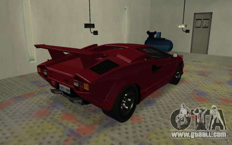 Lamborghini Countach LP5000 Extreme for GTA San Andreas back left view