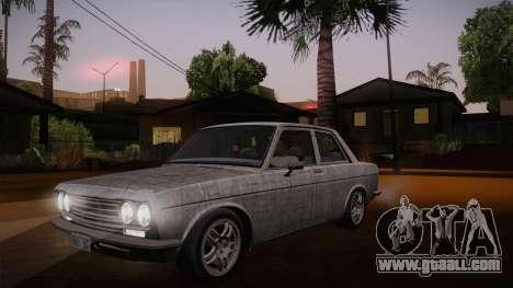 Datsun 510 RB26DETT Black Revel for GTA San Andreas bottom view