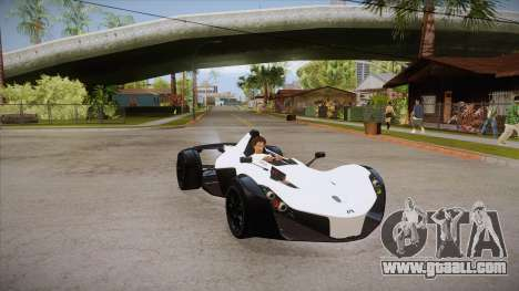 BAC Mono 2011 for GTA San Andreas back view