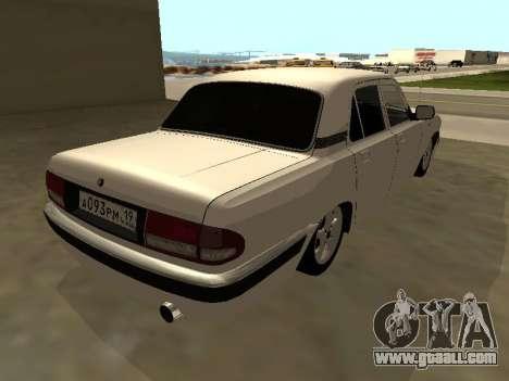 GAZ Volga 31105 for GTA San Andreas back left view