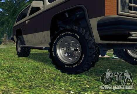 Rancher Bronco for GTA San Andreas interior