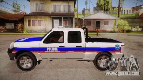 Ford Ranger 2011 Province of Buenos Aires Police for GTA San Andreas left view