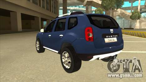 Dacia Duster 2014 for GTA San Andreas back view