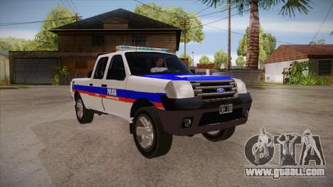 Ford Ranger 2011 Province of Buenos Aires Police for GTA San Andreas back view