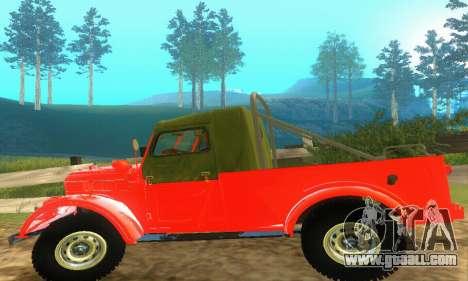 GAZ 69 Pickup for GTA San Andreas inner view