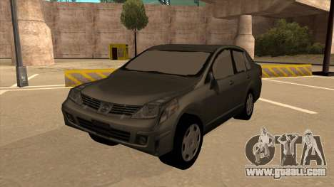 Nissan Tiida sedan for GTA San Andreas