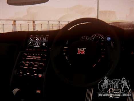 Nissan GT-R R35 Spec V 2010 for GTA San Andreas upper view