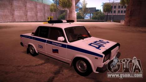 Vaz 2107 Police DPS for GTA San Andreas left view