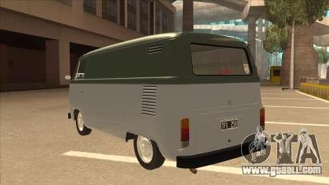 VW T2 Van for GTA San Andreas back view