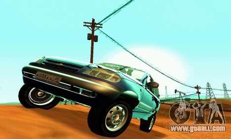 21236 Chevrolet Niva VAZ for GTA San Andreas inner view
