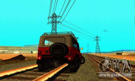 UAZ 31514 6 x 6 for GTA San Andreas back left view