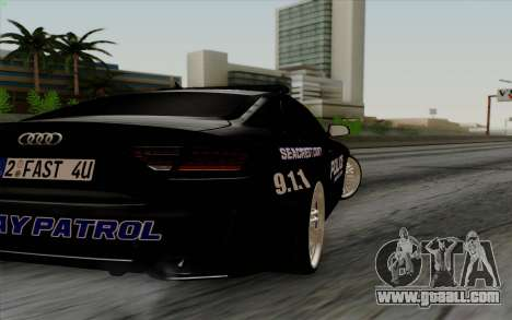 Audi RS5 2011 Police for GTA San Andreas right view
