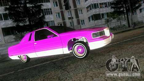 Cadillac Fleetwood Coupe for GTA Vice City inner view