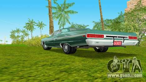 Plymouth Fury III 1969 Coupe for GTA Vice City inner view
