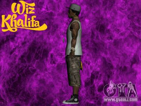 Wiz Khalifa for GTA San Andreas third screenshot