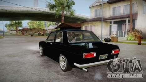 Datsun 510 RB26DETT Black Revel for GTA San Andreas back left view