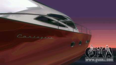 Cartagena Delight Luxury Yacht for GTA Vice City upper view