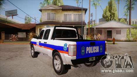 Ford Ranger 2011 Province of Buenos Aires Police for GTA San Andreas back left view
