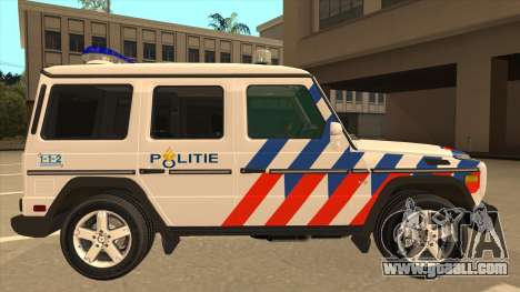 European Emergency Mercedes-Benz G 2008 for GTA San Andreas back left view