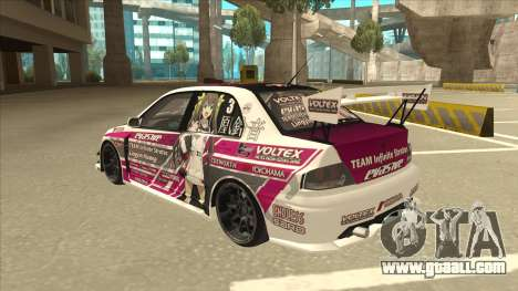 Mitsubishi Lancer EVO IX - Itasha for GTA San Andreas back view
