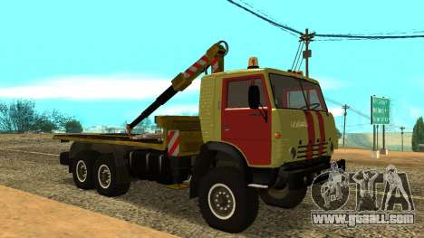KAMAZ 43114 tow truck for GTA San Andreas left view