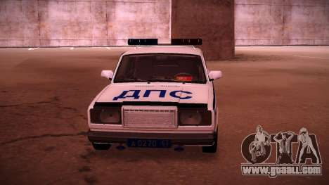 Vaz 2107 Police DPS for GTA San Andreas right view