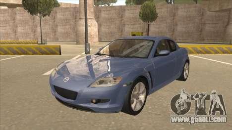 Mazda RX8 Tunable for GTA San Andreas