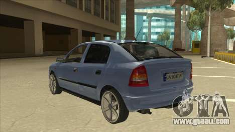 Opel Astra G Stock for GTA San Andreas back view