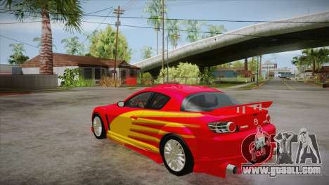Mazda RX8 Tunnable for GTA San Andreas side view